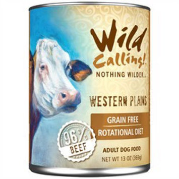 Best Friend Products Corp Wild Calling Western Plains Beef Can Dog Food 12Pk