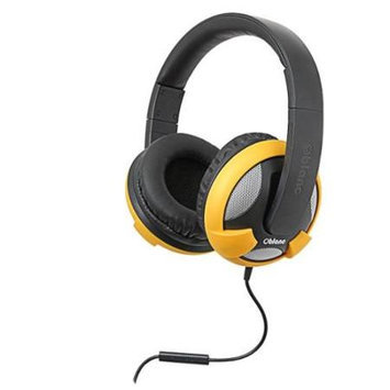 SYBA Multimedia Oblanc U.F.O. Yellow Stereo Headphone w/In-line Microphone