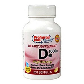 Preferred Plus Vitamin D3-1000 Iu High Potency Softgels By Kpp - 250 Ea