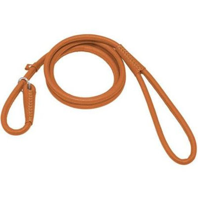 Dogline Soft Padded Rolled Round Leather Dog Slip Lead / Kennel Leash (4 thicknesses and 8 colos available)