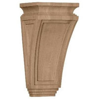 Ekena Millwork 6-in x 12-in Rubberwood Arts and Crafts Wood Corbel