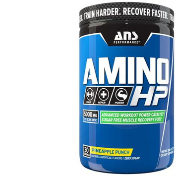 ANS Performance Amino HP Advanced BCAA, Caffeine Free Pineapple Punch, 360 Gram