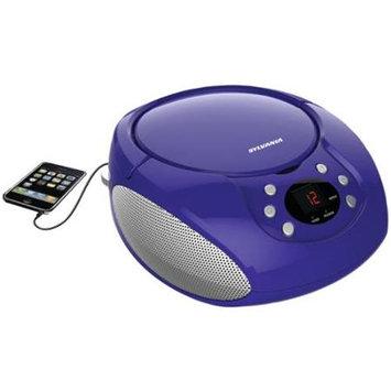 Sylvania Srcd261-b-purple Portable Cd Player With Am/fm Radio [purple]