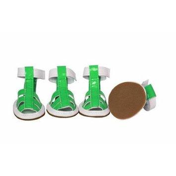 Overstock Pet Life F25Gnmd - Buckle-Supportive Pvc Waterproof Pet Sandals Shoe.