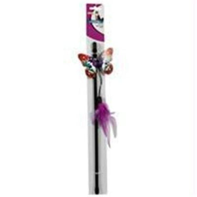 Ethical Pet Products Ethical Cat-Spot Fluttering Butterfly Wand Cat Toy- Assorted 12 Inch