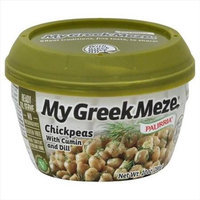 Palirria 10 oz. My Greek Meze Chickpeas With Cumin And Dill - Case Of 6