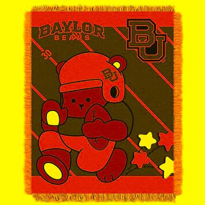 Baylor Bears NCAA Triple Woven Jacquard Throw (Fullback Baby Series) (36x48)