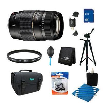 Tamron 70-300mm f/4-5.6 DI LD Macro Lens Pro Kit f/ Nikon AF w/ Built-in Motor