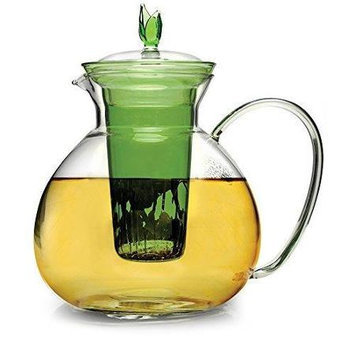 Epoca 60oz Glass Teapot Infuser Grn