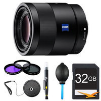 Sony Sonnar T* FE 55mm F1.8 ZA Camera Lens Bundle