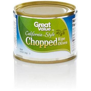 Great Value: Chopped California Ripe Olives, 4.25 Oz