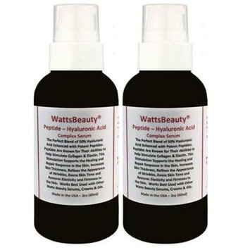 Watts Beauty Potent Peptide Wrinkle Serum Optimized with Hyaluronic Acid & L Arginine 4 oz - Pack of 2