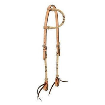 Jt Intl Distributers Inc Single Ear Headstall With Braided Rawhide Med Oil