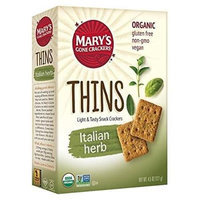 Mary's Gone Crackers THINS, OG2, ITALIAN HERB, (Pack of 6)