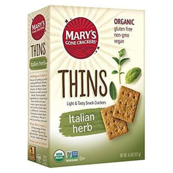Mary's Gone Crackers THINS, OG2, ITALIAN HERB, (Pack of 6)