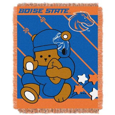 Boise State Broncos NCAA Triple Woven Jacquard Throw (Fullback Baby Series) (36x48)
