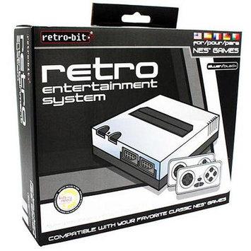B/retro-bit NES Console 8-Bit Top Loader - Silver/Black