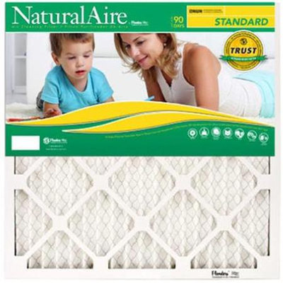 Flanders 84858.011525 15 x 25 x 1 in. NaturalAire Standard Pleated Air Filter - Pack Of 12