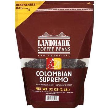 Landmark Lighting Landmark Coffee Colombian Supremo Coffee Beans, 32 oz