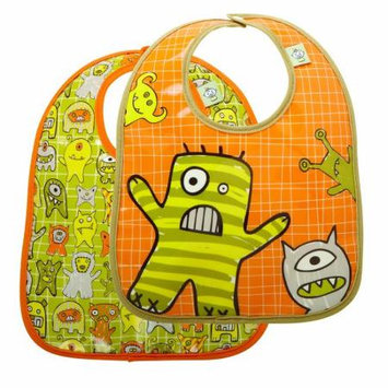 SugarBooger Mini Bib Gift Set (Hungry Monsters) - 2-pack
