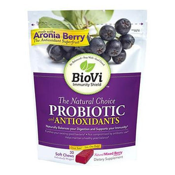 Biovi - The Natural Choice Probiotic Antioxidants Mixed Berry Flavor - 30 Soft Chews