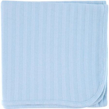 Baby Vision Hudson Baby Touched by Nature Organic Cotton Receiving Blanket - Blue