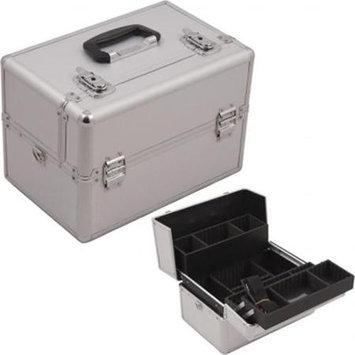 Casemetic Professional Cosmetic Makeup Train Case Color: Silver