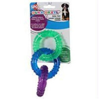 Ethical Pet Products Ethical Dog-Spot Dura-brite Triple Ring Dog Toy- Assorted 6.5