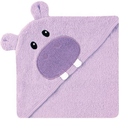 Luvable Friends Purple Hippo Hooded Towel