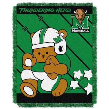 Northwest NOR-1COL044010053RET Marshall Thundering Herd NCAA Triple Woven Jacquard Throw - Fullback Baby Series - 36x48