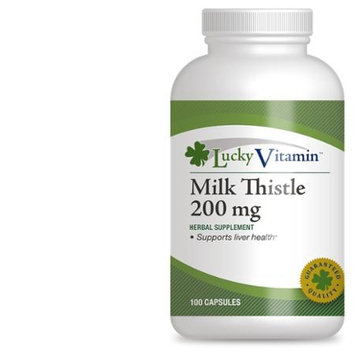LuckyVitamin - Milk Thistle 200 mg. - 100 Capsules