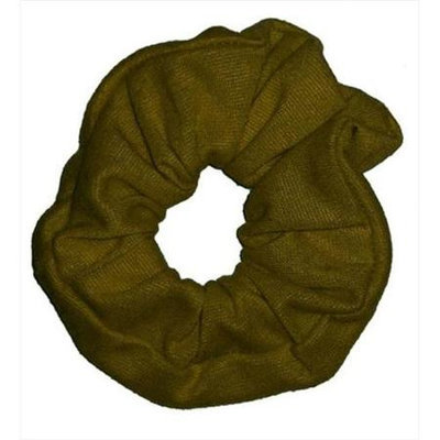 Coveryouhair CoverYourHair 61264 Soft Classy Solid Scrunchy Khaki