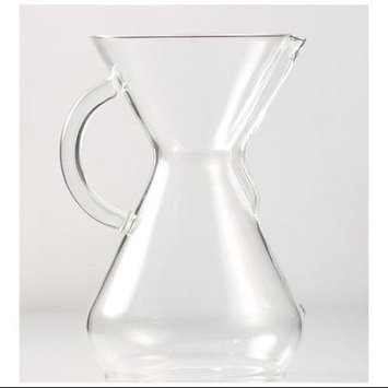 Chemex Eight Cup Glass Coffee Maker with Glass Handle - 2-8 cup (40oz.) Coffee Maker
