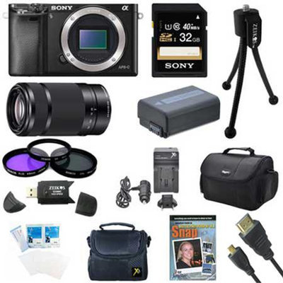 Sony Alpha a6000 24.3MP Interchangeable Lens Camera Body and Lens Kit