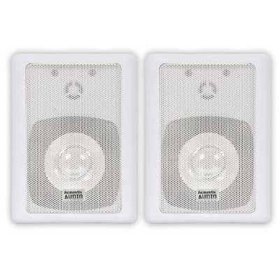 Acoustic Audio 151W-4PKG 300W Water-Resistant Indoor/Outdoor Speakers - 37 Hz to 20 kHz - 8 Ohm - Bookshelf