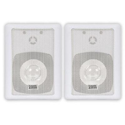 Acoustic Audio 151W-4PKG 300W Water-Resistant Indoor/Outdoor Speakers - 37 Hz to 20 kHz - 8 Ohm - Bookshelf