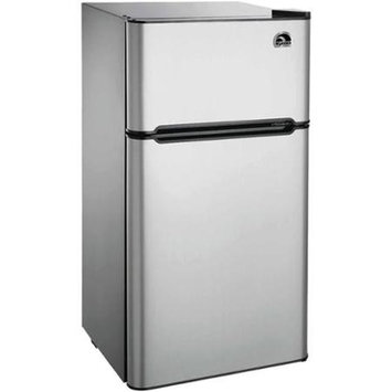 IGLOO Compact Refrigerator 4.5 cu. ft. Mini Refrigerator in Stainless Steel FR459