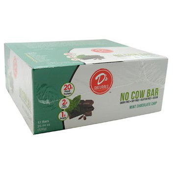 D's Naturals No Cow Bar Mint Chocolate Chip - 12 - 25.44 oz Bars