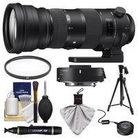 Sigma 150-600mm f/5.0-6.3 Sports DG OS HSM Zoom Lens & 1.4x Teleconverter (for Nikon) with USB Dock + Pistol Grip Tripod + Filter + Kit