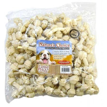Loving Petsing Pets Rawhide WHITE BONE 2-3in 100PC