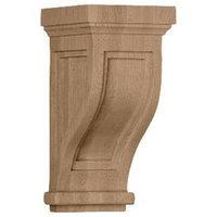 Ekena Millwork 4.75-in x 10-in Rubberwood Traditional Recessed Wood Corbel