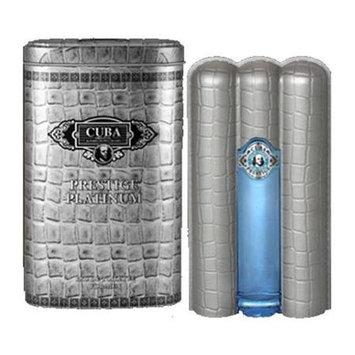 Cuba amcubpp3s 3 Oz. Prestige Platinum Eau De Toilette Spray For Men