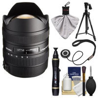 Sigma 8-16mm f/4.5-5.6 DC HSM Ultra-Wide Zoom Lens (for Canon EOS Cameras) with Tripod + Cleaning Kit