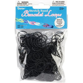 Darice Inc Darice RB1-1000 Mini Rubber Bands 300-Pkg with 12 Clips-Black