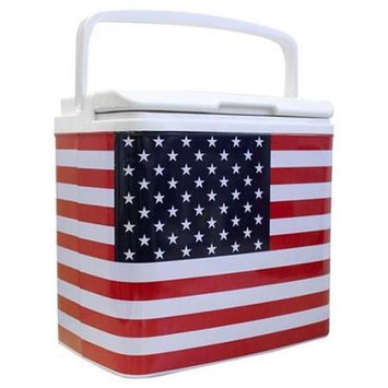 Life 3028184 Tinny Retro Tin Cooler - Red White and Blue