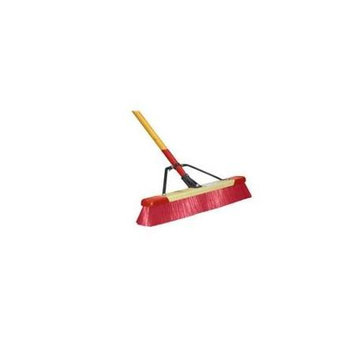 Harper 24in Stiff Push Broom in Red (7324A)