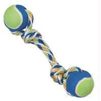 Ethical Pet Products Ethical Dog-Spot Rainbow Twister 2-ball Dumbell- Blue-green 12 Inch
