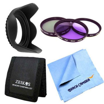 Special Essential 62mm Tulip Hard Lens Hood Bundle
