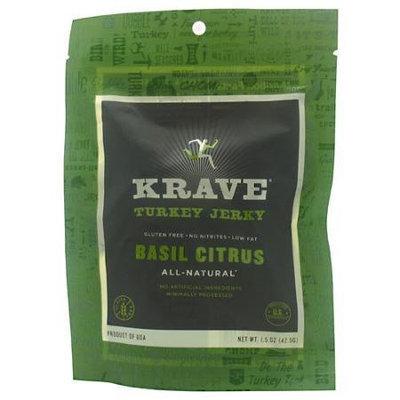Krave Turkey Jerky Basil Citrus 1.5 oz