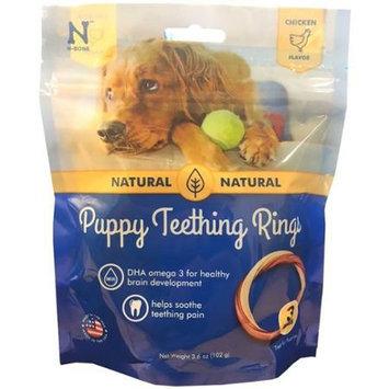 N-Bone Puppy Teething Ring - Chicken Flavor: 3 Pack - 3.5